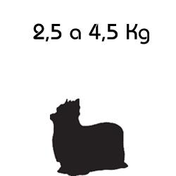 Indicado para o Peso: 2,5 a 4,5 Kg