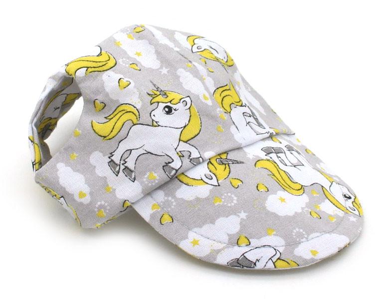 Boné para Cachorro - Cinza e Amarelo Unicórnios - Belo Pet - Pet Elegante 8e19d696fe2