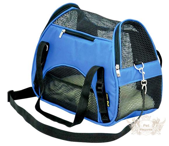 Bolsa de Transporte Flexível em Nylon - Azul - Pet Elegante a7f1a09e3a5