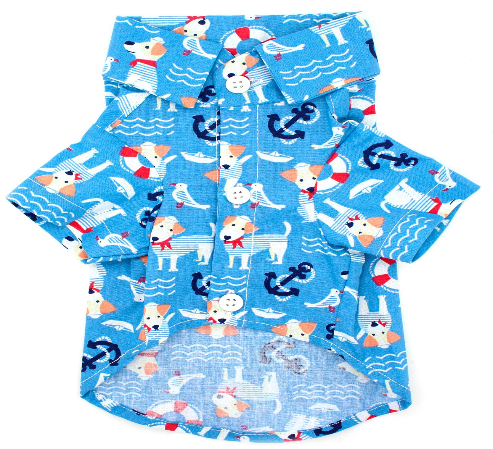 Camisa para Cachorro - Tecido Azul Marinheiro - Estilo Pet - Pet Elegante 260e10fa82a67