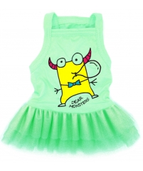 Vestido para Cachorro e Gato - Regata Verde Dear Monster - Dear Dog